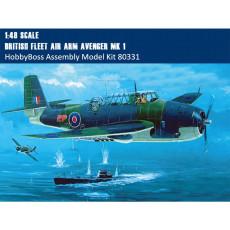 HobbyBoss 80331 1/48 Scale British Fleet Air Arm Avenger Mk.1 Plastic Aircraft Assembly Model Kit