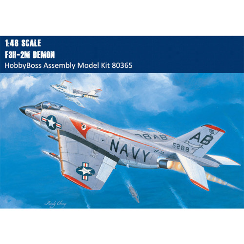 HobbyBoss 80365 1/48 Scale US F3H-2M Demon Plastic Military Aircraft Assembly Model Building Kits