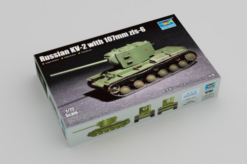 Trumpeter 07162 1/72 Scale Russian KV-2 with 107mm zis-6 Military Assembly Tank Model Building Kit
