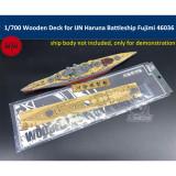 1/700 Scale Wooden Deck for IJN Haruna Battleship Fujimi 46036 Model TMW00079