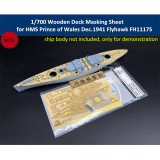 1/700 Scale Wooden Deck Masking Sheet for HMS Prince of Wales Flyhawk FH1117S Ship Model TMW00081