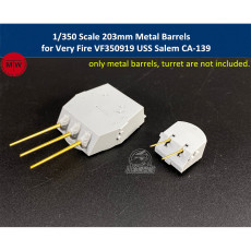 1/350 Scale 203mm 127mm Metal Barrels for Very Fire VF350919 USS Salem CA-139 Ship Model TMW00082