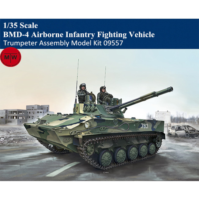 Trumpeter 09557 1/35 Scale BMD-4 Airborne Infantry Fighting Vehicle Military Plastic Assembly Model Kits