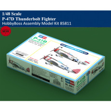 HobbyBoss 85811 1/48 Scale P-47D Thunderbolt Fighter Military Plastic Aircraft Assembly Model Kits