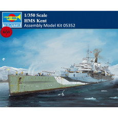 Trumpeter 05352 1/350 Scale HMS Kent Heavy Cruiser Military Plastic Assembly Model Kits