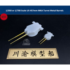 1/350 Scale or 1/700 Scale US 457mm MKA Turret Metal Gun Barrels for Ship Model CYG042