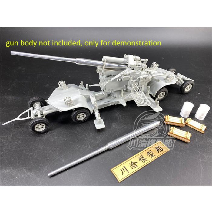 1/35 Scale German 12.8cm FLAK 40 Metal Barrel for HobbyBoss 84545 Model Kits TMW00094(Wooden Ammo Box Oil Drum)