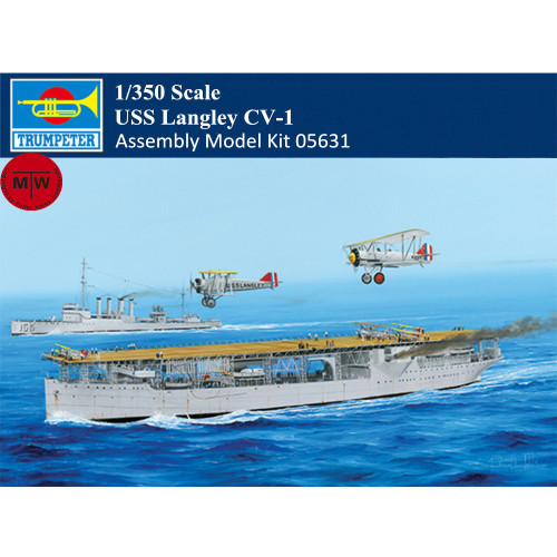 Trumpeter 05631 1/350 Scale USS Langley CV-1 Military Plastic Assembly Model Ship Kit