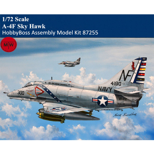 HobbyBoss 87255 1/72 Scale A-4F Sky Hawk Military Plastic Aircraft Assembly Model Kits