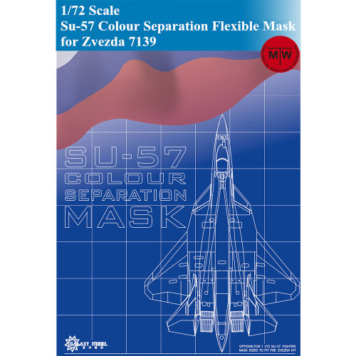 GALAXY D72002 1/72 Scale Su-57 Colour Separation Die-cut Flexible Mask for Zvezda 7139 Aircraft Model