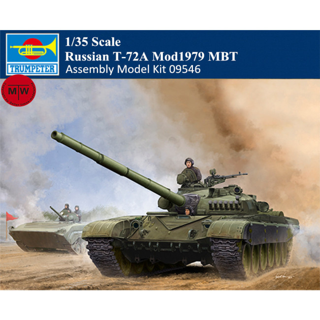 Trumpeter 09546 1/35 Scale Russian T-72A Mod1979 MBT Main Battle Tank Military Plastic Assembly Model Kits