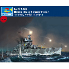 Trumpeter 05348 1/350 Scale Italian Heavy Cruiser Fiume Military Plastic Assembly Model Kits