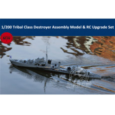 Chuanyu 1/200 Scale Tribal Class Destroyer Assembly Model Kit & RC Upgrade Set TMW00093
