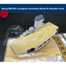 Meng WB-001 Warship Builder Lexington Q Edition Plastic Assembly Model & Wooden Deck