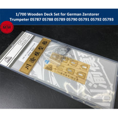 1/700 Scale Wooden Deck Set for German Zerstorer Trumpeter 05787 05788 05789 05790 05791 05792 05793 Model Ship