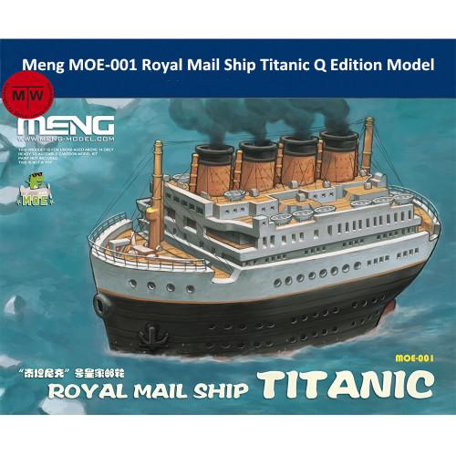 Meng MOE-001 Royal Mail Ship Titanic Q Edition Plastic Assembly Model Kits