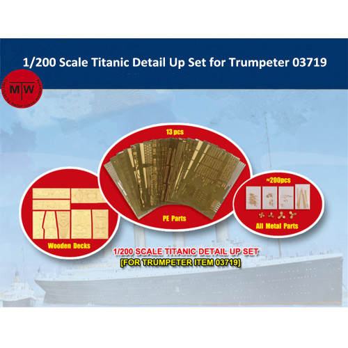 Trumpeter 66600 1/200 Scale Titanic Detail Up Set for Trumpeter 03719 Model Ship