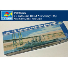 Trumpeter 05702 1/700 Scale US Battleship BB-62 New Jersey 1983 Military Plastic Assembly Model Kit