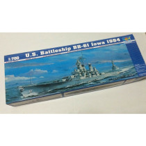 Trumpeter 05701 1/700 Scale US Battleship BB-61 Iowa 1984 Military Plastic Assembly Model Kits