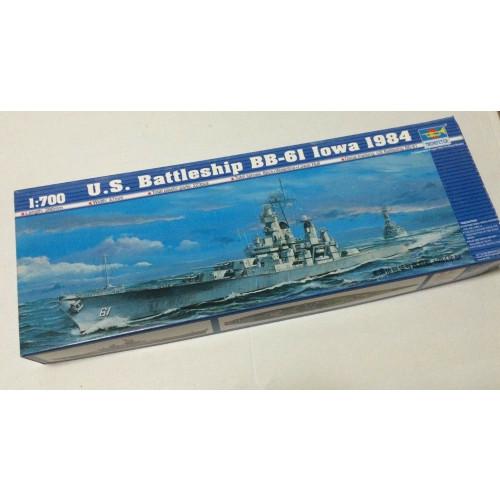 Trumpeter 05701 1/700 Scale US Battleship BB-61 Iowa 1984 Military Plastic Assembly Model Kits