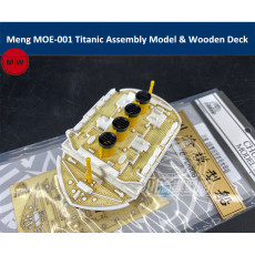 Meng MOE-001 Royal Mail Ship Titanic Q Edition Plastic Assembly Model Kit and Wooden Deck
