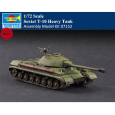 Trumpeter 07152 1/72 Scale Soviet T-10 Heavy Tank Military Plastic Assembly Model Kits