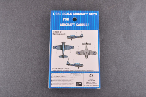 Trumpeter 06404 1/350 Scale SBD-3 Dauntless(Pre-painted) Military Plastic Aircraft Sets for Aircraft Carrier Model