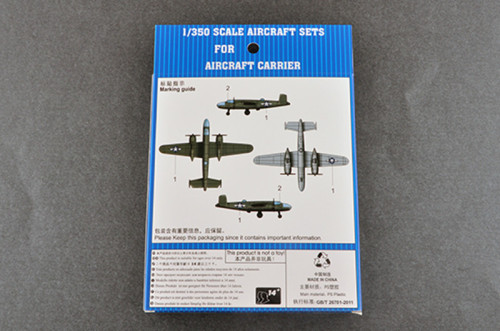 Trumpeter 06401 1/350 Scale B-25 Mitchell(Pre-painted) Military Plastic Aircraft Sets for Aircraft Carrier Model