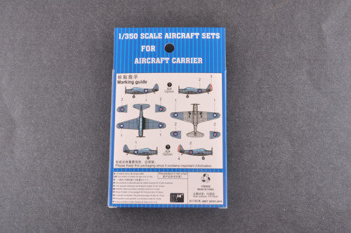 Trumpeter 06403 1/350 Scale TBD-1 Devastator(Pre-painted) Military Plastic Aircraft Sets for Aircraft Carrier Model