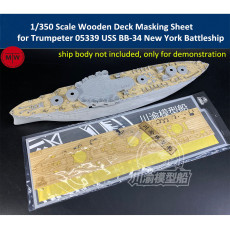 Chuanyu CY350079 1/350 Scale Wooden Deck Masking Sheet for Trumpeter 05339 USS BB-34 New York Battleship Model Kits