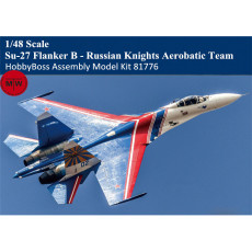Pre-order HobbyBoss 81776 1/48 Scale Su-27 Flanker B - Russian Knights Aerobatic Team Plastic Aircraft Assembly Model Kits