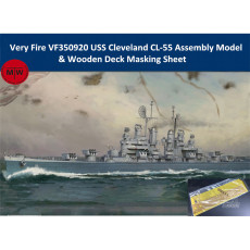 Very Fire VF350920 1/350 Scale USS Cleveland CL-55 Plastic Assembly Model &Wooden Deck Masking Sheet