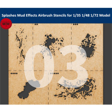 LIANG-0003 Splashes Mud Effects Airbrush Stencils Tools for 1/35 1/48 1/72 Scale Military Model Kits