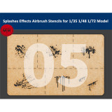 LIANG-0005 Special Splashes Blood Effects Airbrush Stencils Tools for 1/35 1/48 1/72 Scale Military Model Kits