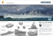 Very Fire VF350919 1/350 Scale USS Salem CA-139 Heavy Cruiser Military Plastic Assembly Model Kits