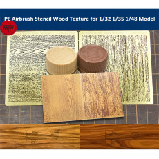 LIANG-0301/0302/0303/0304 PE Airbrush Stencil Wood Texture Tools for 1/35 1/48 1/72 Scale Model