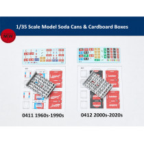 LIANG-0411/0412 1/35 Scale Model Soda Cans & Cardboard Boxes