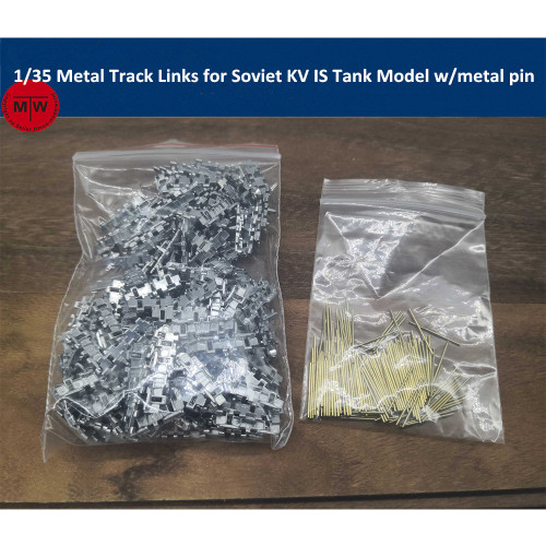 1/35 Scale Metal Track Links for Soviet KV IS Tank Model w/metal pin 2pcs/set SX35021