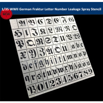1/35 Scale WWII German Fraktur Letter Number Leakage Spray Stencil Tools for Military Tank Model AJ0047