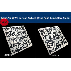 1/35 1/32 Scale WWII German Ambush Wave Point Camouflage Leakage Spray Stenciling Template Hobby Military Model Tools