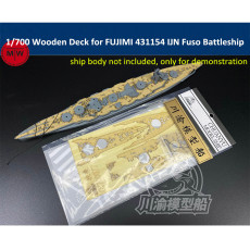 Chuanyu CY700077 1/700 Scale Wooden Deck for FUJIMI 431154 IJN Fuso Battleship Model