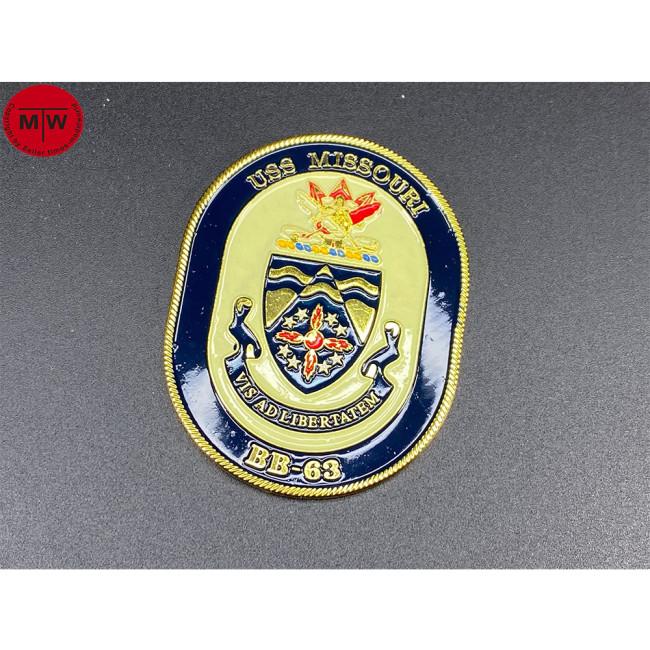 USS Missouri BB-63 Battleship 1/700 1/350 1/200 Ship Model Display Metal Badge Heraldry CY04