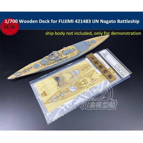 Chuanyu CY700076 1/700 Scale Wooden Deck for FUJIMI 421483 IJN Nagato Battleship Model