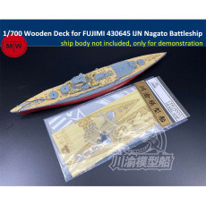 Chuanyu CY700078 1/700 Scale Wooden Deck for FUJIMI 430645 IJN Nagato Battleship Model Kit