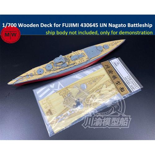 Chuanyu CY700078 1/700 Scale Wooden Deck for FUJIMI 430645 IJN Nagato Battleship Model Kit