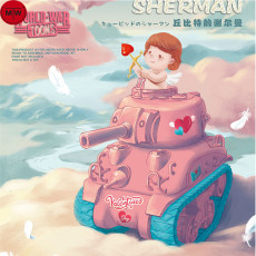 Meng Kids WWV-003 Cupid's Sherman Q Edition Plastic Tank Assembly Model Kit
