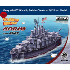 Pre-order Meng WB-007 Warship Builder Cleveland Q Edition Cute Plastic Assembly Model Kit