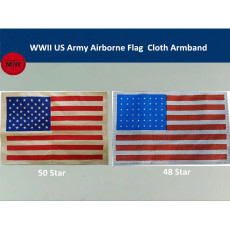 WWII US Army Airborne Flag Cloth Jacket Armband Reproduction 48 Star/50 Star