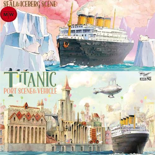 Suyata SL-001/SL-002 Titanic Seal Iceberg/Port Vehicle Scene Q Edition Plastic Assembly Model Kit