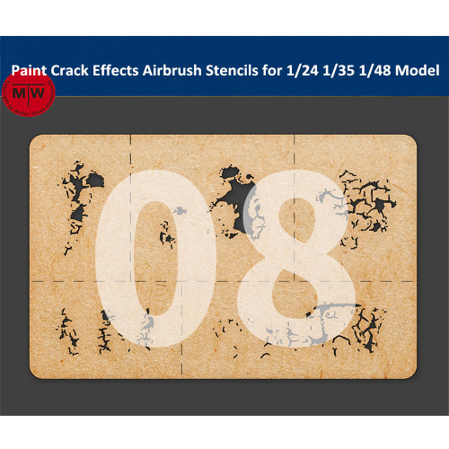 LIANG-0008 Paint Crack Effects Airbrush Stencils Tool for 1/24 1/35 1/48 Scale Military Tank Model
